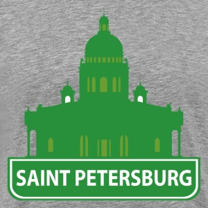 National landmark Saint Petersburg silhouette T-Shirts - Men's Premium T-Shirt
