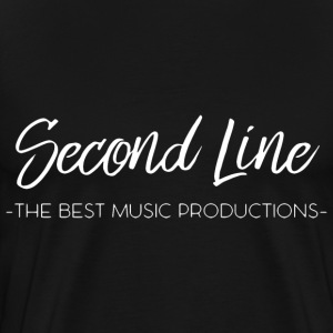 Second Line White Print Tee - Men's Premium T-Shirt