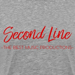 Second Line Red Print Tee - Men's Premium T-Shirt