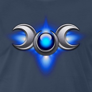 Blue Triple Goddess - Men's Premium T-Shirt