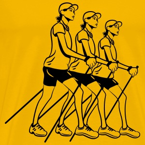 nordic walking women T-Shirts - Men's Premium T-Shirt