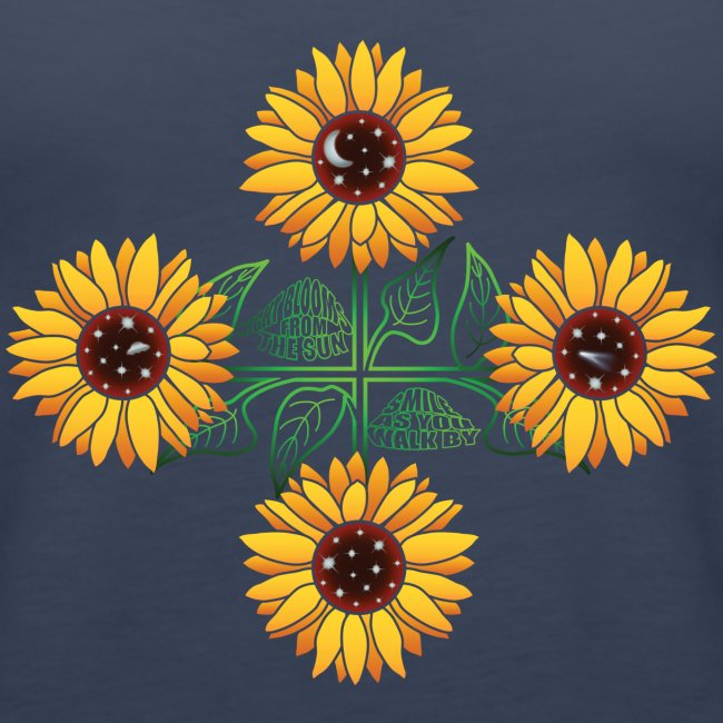 Night Blooms From the Sun Ladies' Tank Top