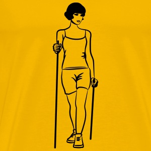 nordic walking sport woman T-Shirts - Men's Premium T-Shirt