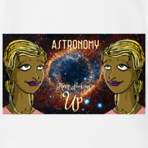 Astronomy Keep Looking UP - Short Sleeve Baby Bodysuit