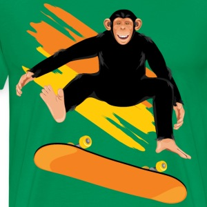 Monkey on the skateboard - Men's Premium T-Shirt