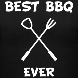 Best BBQ ever Women's T-Shirts - Women's V-Neck T-Shirt