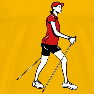nordic walking woman T-Shirts - Men's Premium T-Shirt