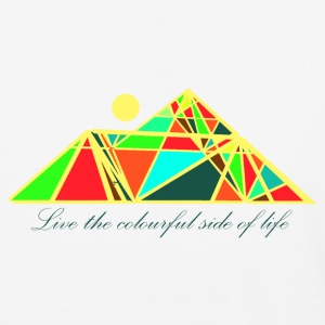 Live the colourful side of life - Baseball T-Shirt