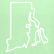 Design ~ Rhode Island Outline Womens