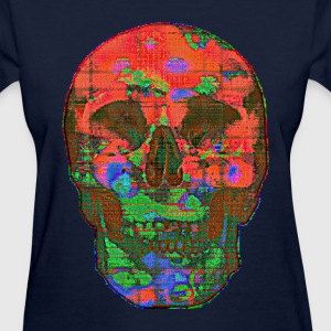 Glitch Skull 01 - Women's T-Shirt