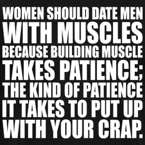 Women Should Date Men With Muscles T-Shirts - Men's Premium T-Shirt