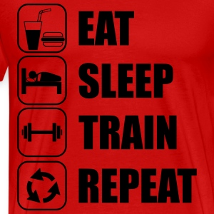 Eat Sleep Train Repeat T-Shirts - Men's Premium T-Shirt