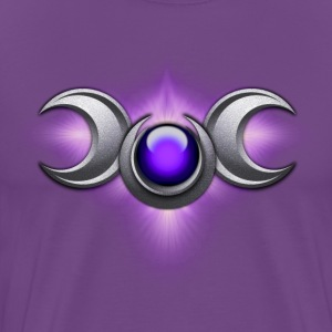 Purple Triple Goddess - Men's Premium T-Shirt