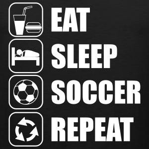 Eat Sleep Soccer Repeat Sportswear - Men's Premium Tank