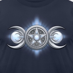 Moonstone Triple Goddess - Men's T-Shirt by American Apparel