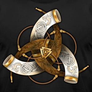 Odin's Triple Horns - Men's T-Shirt by American Apparel