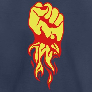 closed fist fire flame Kids' Shirts - Kids' Premium T-Shirt