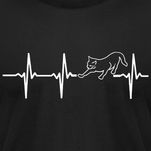 MY HEART BEATS FOR CATS T-Shirts - Men's T-Shirt by American Apparel