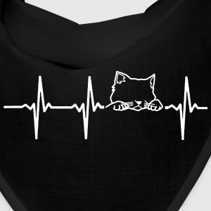 MY HEART BEATS FOR CATS Caps - Bandana