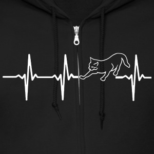 MY HEART BEATS FOR CATS Zip Hoodies & Jackets - Men's Zip Hoodie