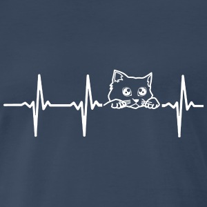 MY HEART BEATS FOR CATS T-Shirts - Men's Premium T-Shirt