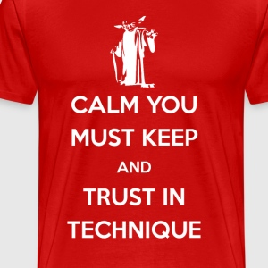 Calm You Must Keep Brazilian Jiu Jitsu T-shirt T-Shirts - Men's Premium T-Shirt