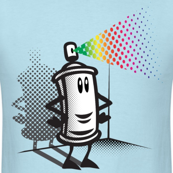 Happy paint spray - Men's T-Shirt