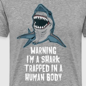 I'm a Shark Trapped in a Human Body BJJ T-shirt T-Shirts - Men's Premium T-Shirt