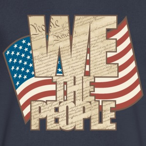 WE THE PEOPLE - Men's V-Neck T-Shirt by Canvas