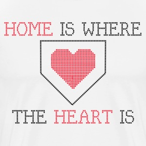 Home is Where the Heart is - White - Men's Premium T-Shirt