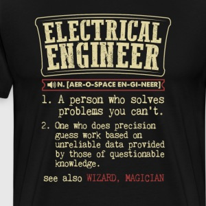 Electrical Engineer Funny Dictionary Term Men's Ba T-Shirts - Men's Premium T-Shirt