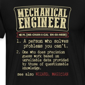 Mechanical Engineer Funny Dictionary Term Men's Ba T-Shirts - Men's Premium T-Shirt