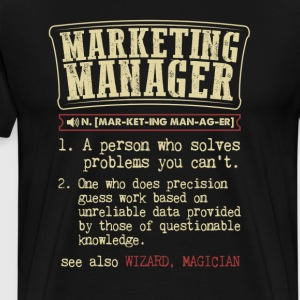 Marketing Manager Funny Dictionary Term Men's Bada T-Shirts - Men's Premium T-Shirt