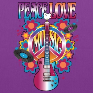 Peace Love Music - Tote Bag