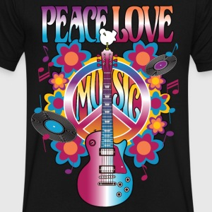 Peace Love Music - Men's V-Neck T-Shirt by Canvas