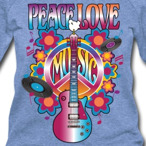 Peace Love Music - Women's Wideneck Sweatshirt