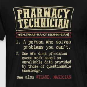 Pharmacy Technician Funny Dictionary Term Men's Ba T-Shirts - Men's Premium T-Shirt