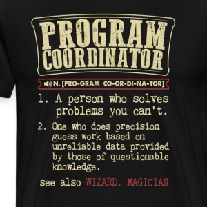 Program Coordinator Funny Dictionary Term Men's Ba T-Shirts - Men's Premium T-Shirt