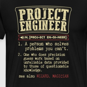 Project Engineer Funny Dictionary Term Men's Badas T-Shirts - Men's Premium T-Shirt