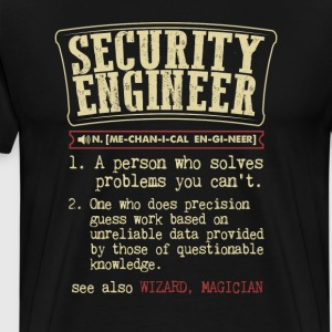 Security Engineer Funny Dictionary Term Men's Bada T-Shirts - Men's Premium T-Shirt
