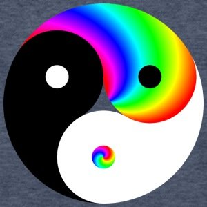 LGBT Yin Yang - Fitted Cotton/Poly T-Shirt by Next Level