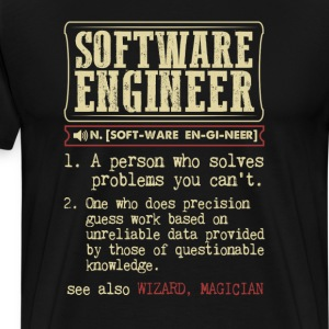 Software Engineer Funny Dictionary Term Men's Bada T-Shirts - Men's Premium T-Shirt