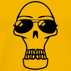 Skull sunglasses arrogant T-Shirts - Men's Premium T-Shirt