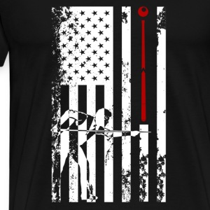 Billiards Flag Shirt - Men's Premium T-Shirt