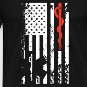 EMT Flag Shirt - Men's Premium T-Shirt