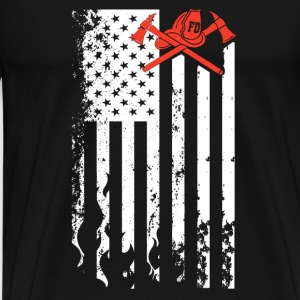 Firefighter Flag Shirt - Men's Premium T-Shirt