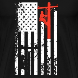 Lineman Flag Shirt - Men's Premium T-Shirt
