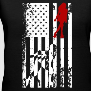 Roller Derby Flag Shirt - Women's V-Neck T-Shirt