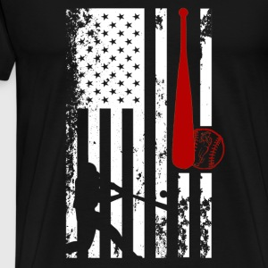 Softball Flag Shirt - Men's Premium T-Shirt