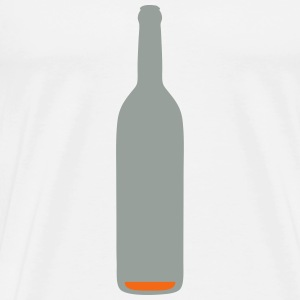 bottle almost empty alcohol background 1 T-Shirts - Men's Premium T-Shirt